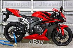 Rouge Us Avec Injection En Abs Noir Pour Carénage 2007-2008 Honda Cbr 600 Rr 600rr