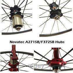 Route Carbone Roues 38 50 88mm Profondeur Tubulaire Clincher Standard Vélo Wheelset