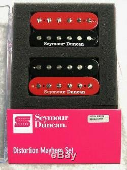 Seymour Duncan Distorsion Mayhem Set Noir Et Rouge Sh-6b Sh6n (blemished B Stock)
