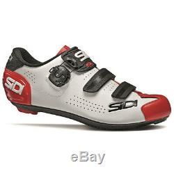 Sidi Alba 2 Vélo De Route Chaussures De Vélo Blanc / Noir / Rouge Taille 43,5 Ue