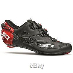 Sidi Tir Vent Vélo De Route Chaussures De Vélo Noir Mat / Rouge 20 Taille 43 Eu