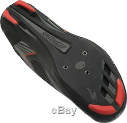 Spécialisé Comp Route Chaussures Ue 42 Américain Hommes 9 Noir / Rouge New Old Stock