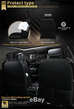 Standard Edition Car Avant + Arrière Complet Seat Cover Set Entouré Noir Et Rouge En Cuir