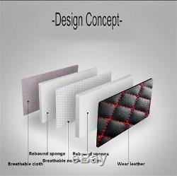 Standard Edition Noir Et Rouge En Cuir Pu Voiture Avant + Arrière Siège Cover Set Coussin
