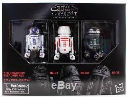 Star Wars - La Série Noire 6 Red Squadron R2-d2 - Pack De 3 Astromec - États-unis En Stock