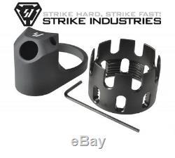 Strike Industries - Noix De Château Améliorée & Ext. Plaque D'extrémité Rouge / Noir / Gris / Bleu Nouveau