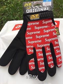 Supreme X Mechanix Gloves Handschuhe Noir / Rouge / Blanc Moyen Ss 17 Animaux Morts
