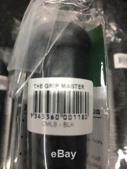 The Grip Master Stitchback Classic Poignées En Cuir Noir / Rouge X 13