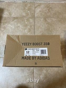 Tout Nouveau Deadstock Adidas Yeezy Boost 350 V2 Bred Noir Rouge Taille 12 Boîte Endommagée