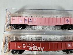 Trains Micro Echelle N Postwar Nyc Mémoires Noir, Rouge, Rose / Filles Gondola Lot