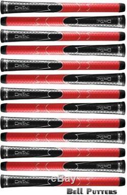 Treize (13) Winn Avs Dri-tac Noir / Rouge Standard Golf Grips-mens Grip-5dt-brd