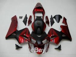 Tx Stock Kit Carénage Injection Rouge Noir Pour Honda 2003 2004 Cbr600rr A083