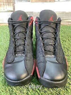 Uk6 Nike Air Jordan 13 Retro Gs Bred 2017 Trainers Jumpman Sticker Noir Rouge