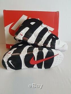 Uptempo Uk 10 Eu 414962-105 De Nike Air More, Blanc, Noir Et Rouge. Nouvelle Boîte En Boîte