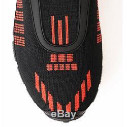 Us 10 Uk 9 Nouveau $ 695 Prada Men Black & Red Tech Mouline Sport Mesh Baskets Nib