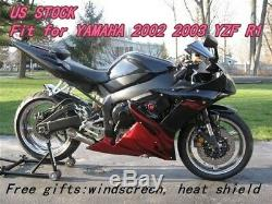 Us Stock Carénage Fit Pour Yamaha 2002 2003 Yzf R1 Moulage Par Injection En Plastique Abs A0a4