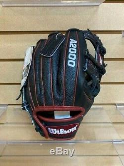 Wilson A2000 Noir / Rouge Pedroia Fit Superskin-11 1/2 Pro-stock Modèle Dp15