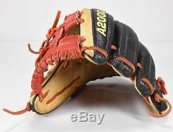 Wilson Pro Stock 1786 Ss A2000 11.5 Rht Gants De Baseball Noir, Rouge, Orange