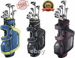 XL 13-piece Ensemble Complet De Golf Avec Sac Droit Ou Gauche Pick Couleur Top Flite