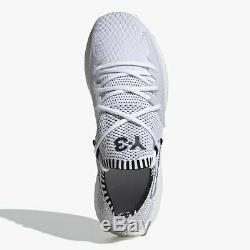 Y3 Adidas Yohji Yamamoto Raito Racer Chaussures De Formateurs Blanc Noir Rouge Uk 9 Eu 43.3