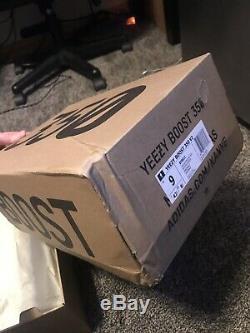 Yeezy Boost 350 V2 Core Noir Rouge Taille 9 Stock X Vérifié Authentique